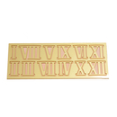 Roman dial numeral set brass yellow 10 mm