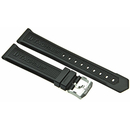 TAG Heuer rubber watch band black with pin buckle for...