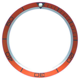 Bezel inlay compatible with Omega Planet Ocean orange