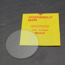 Flat mineral glass for watches medium thickness 1.4-1.5...