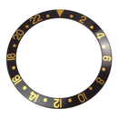 Bezel inlay black/gold compatible with Rolex GMT-Master...
