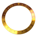 Bezel inlay brown/gold compatible with Rolex GMT-Master I...
