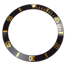 Bezel inlay black/gold compatible with Rolex Submariner...
