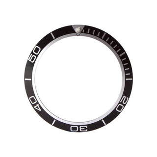 Bezel inlay compatible with Omega Seamaster Planet Ocean black