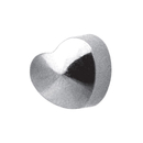 STUDEX Plus Medico shaped ea studs palladium-white Heart