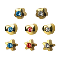 STUDEX Plus Medico shaped ea studs gold-plated with gem