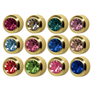 STUDEX Plus Medico assortment round ear studs gold-plated...