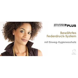 STUDEX Plus Medico Runde Mini Ohrstecker vergoldet in Kugelform