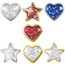 STUDEX 75 first ear plug heart star crystal clear...