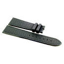 Zenith rubber/calf leather strap 21/18 mm black for...