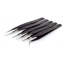 Precision Watchmaker Universal Tweezer set 5 pieces epoxy...