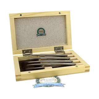 Precision Watchmaker Universal Tweezer set 4 pieces in decorative wooden box