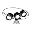 ??? Three comfortable plastic watchmakers magnifiers with...