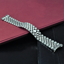 Steel bracelet with hidden clasp compatible with Rolex...