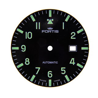 Original Fortis Zifferblatt Superluminova für Fortis Flieger