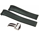 TAG Heuer rubber strap black with folding clasp for...