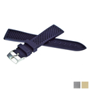 ZENITH caoutchouc strap 21 mm with pin buckle blue for...