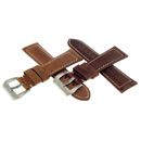 Vintage suede watchstrap 24 or 26 mm with white stitching...