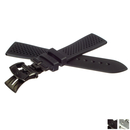 ZENITH rubber strap 21 mm black with butterfly depl....
