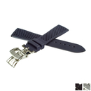 ZENITH caoutchouc strap 21 mm blue with butterfly depl....