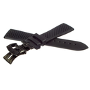 Genuine Zenith rubber strap black 22 mm with butterfly...