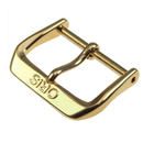 Genuine ORIS Steel Buckle 18 mm gold-plated, polished