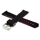 TAG Heuer rubber bracelet black/red 22 mm for TAG Heuer...