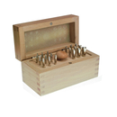 AURIFEX Bezel burnishing set 18 punches for rubbed-in...
