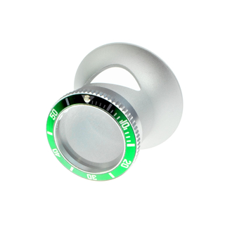 Watchmakers loupe with Submariner Hulk / lunette verte bezel in RLX style