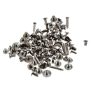 Universal stainless steel screw set for wristwatch movements
