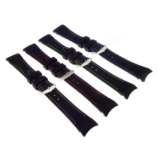 Silicone strap 20 mm with pin buckle compatible with RLX GMT Master & Submariner