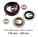 Mainspring for wrist watches with manual winding, blade...