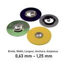 Mainspring for automatic wristwatches blade width...